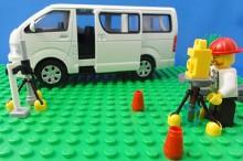 レゴ測量する親方